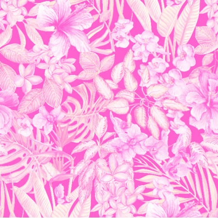 Fabric 26344 | rośliny tropikalne w pastelach