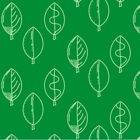 26491   Liście doodle zielone