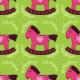 Fabric 26696 | Koniki różowe