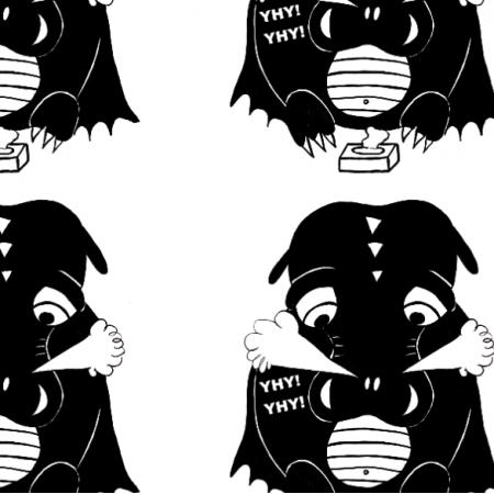 26739 | Zakatarzony smoczek czarno-biały
