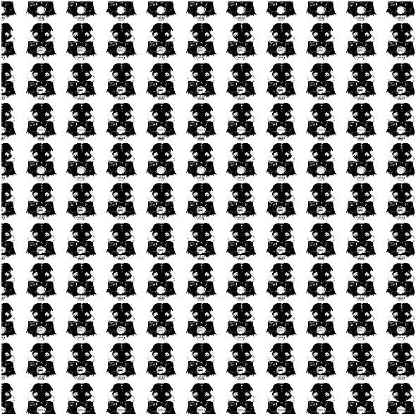 Fabric 26739 | Zakatarzony smoczek czarno-biały