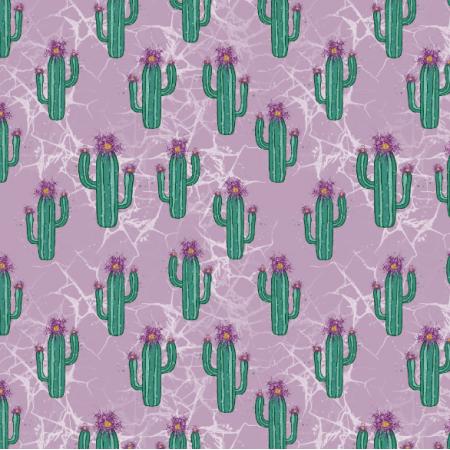Fabric 26891 | kaktusik róż marmurek