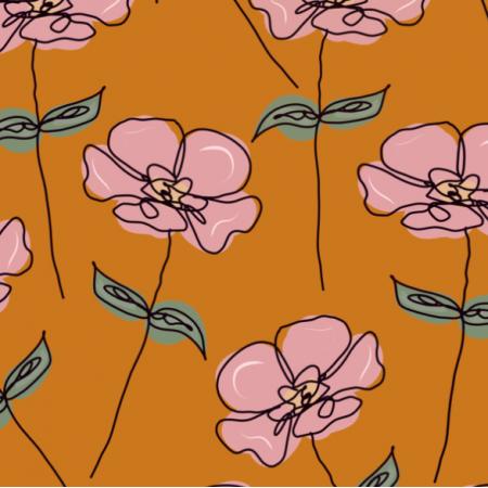 Fabric 26962 | vintage flower