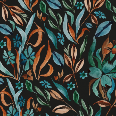 Fabric 27046 | meadow night