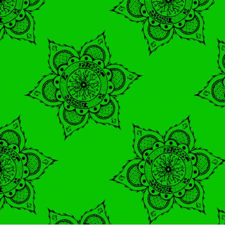 Fabric 27170 | mandala zielona duża