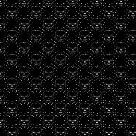 Fabric 27178 | czaszka gwiazdki ciemne małe