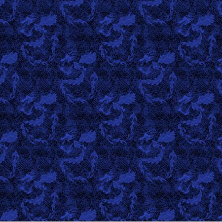 Fabric 27202 | melanż wariacja smok niebieski mały