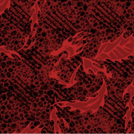 Fabric 27216 | melanż wariacja smok czerwony duży