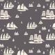 Tkanina 27230 | Parade of sails chocolate