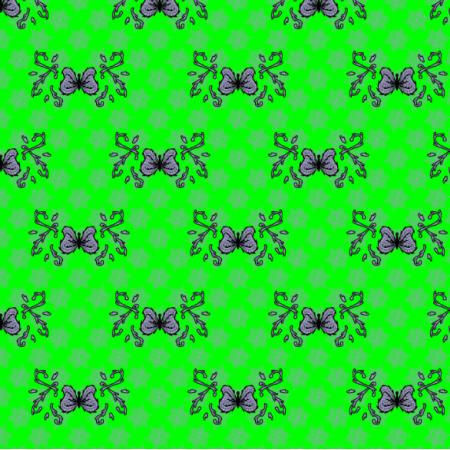 27311 | motyl mandala jasny zielony mały