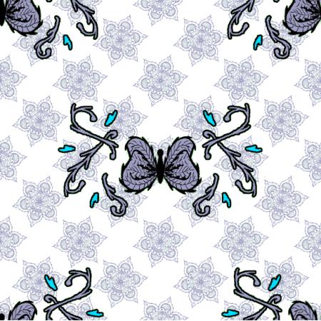27312 | motyl mandala jasny szary duży