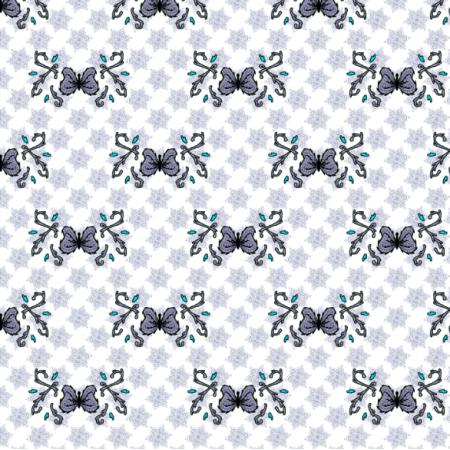 27313 | motyl mandala jasny szary mały