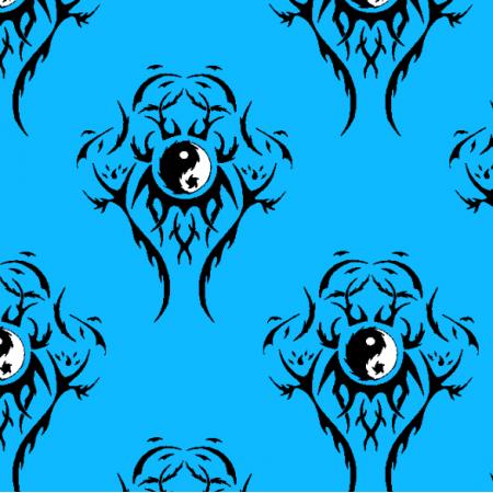 27314 | Tribal Ying Yiang niebieski duży