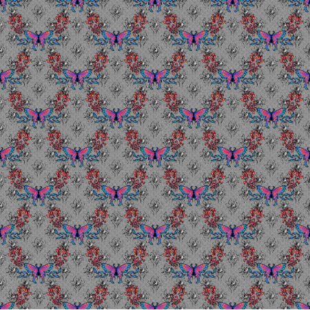 27317 | motyl kwiat kolorowy mały
