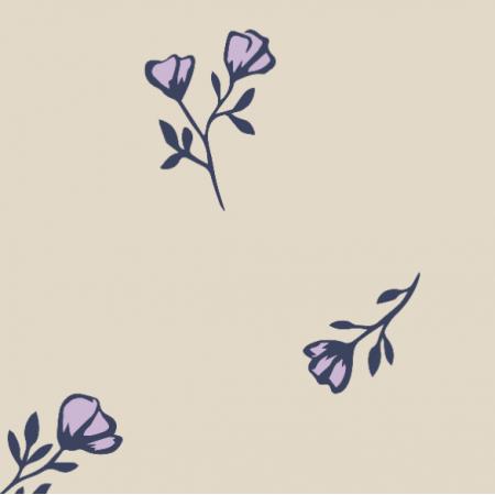 Fabric 27385 | pastelowe kwiaty