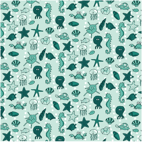 Fabric 2885 | underwater life