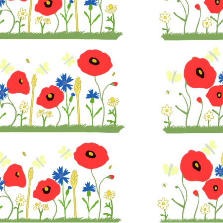 Fabric 27558 | Makowa łąka