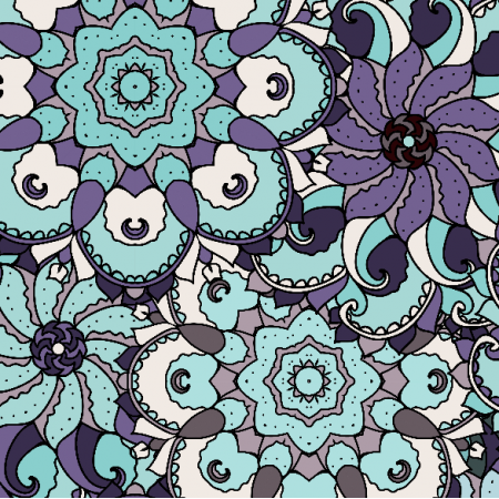 Fabric 2891 | violet and blue ornament