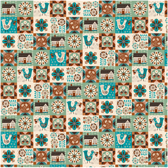 Fabric 27606 | Contemporary hygge patchwork
