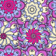 Fabric 2892 | pink and violet ornament
