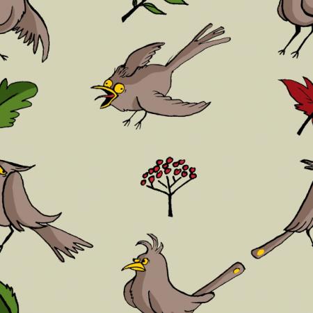 Tkanina 462 | ptaki