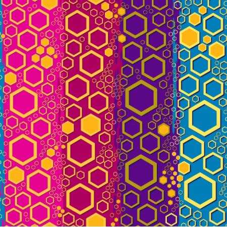 Fabric 27669 | Honeycomb-like amber cells ~ 2,5 cm largest hexagon