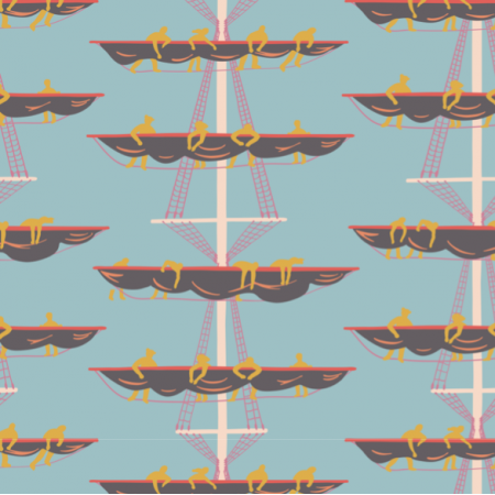 Fabric 27677 | Crew on the Masts blue