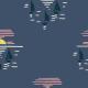 Tkanina 27686   into the sunset navy
