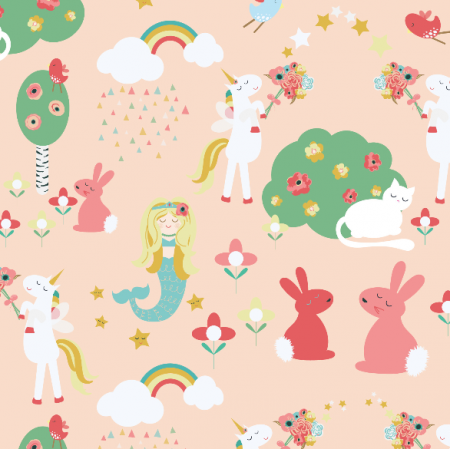 Fabric 2900 | Mermaids and Unicorns