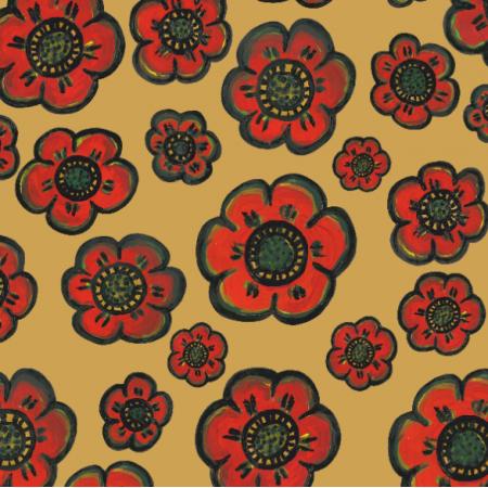 Fabric 27729   Maki złote