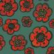 Fabric 27731 | Maki turkusowe
