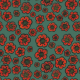 Fabric 27731   Maki turkusowe