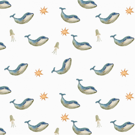 Fabric 27744 | cute whale