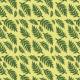 Tkanina 27883 | Liście pastelowo-żółte
