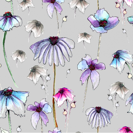 28240   flowers on grey background