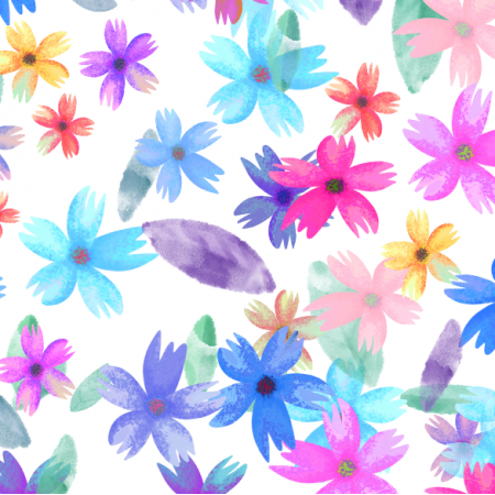 Fabric 28250   Summer colorful flowers