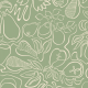 Fabric 28264 | Pears and birds continuous line contour