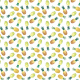 Fabric 28303   Colorful pineapple