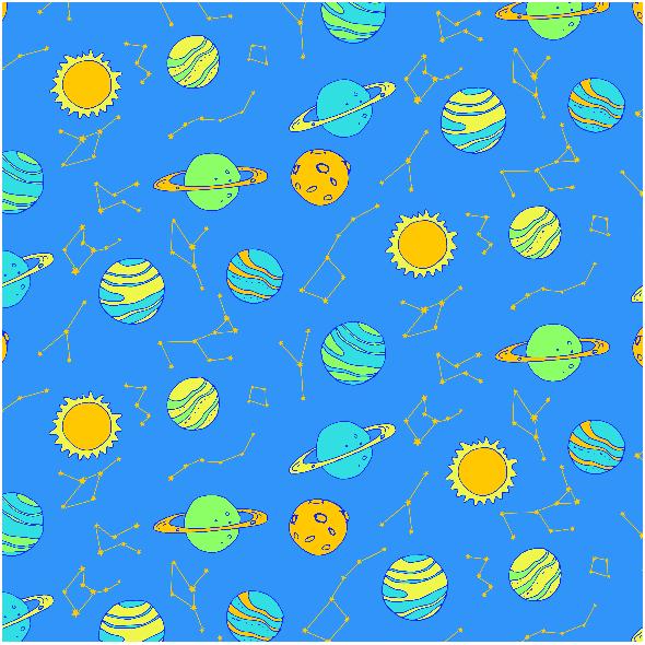 Tkanina 2971 | planets