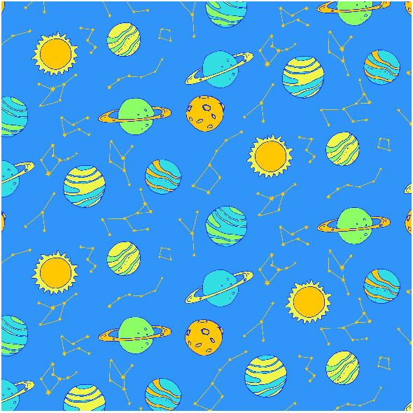 Fabric 2971 | planets