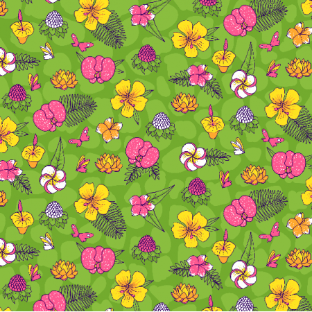 Fabric 2973 | tropical flowers