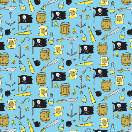 Fabric 2978 | pirates pattern