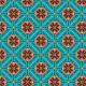 Fabric 28524 | New crispy blue v shapes, flowers and other geometrics