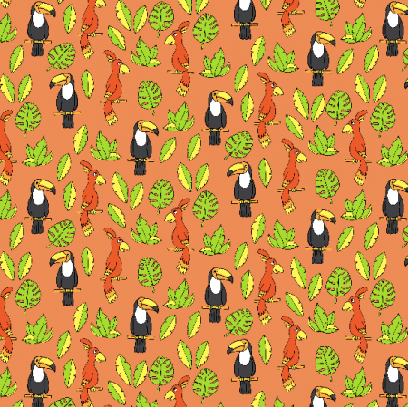 Fabric 2984 | tropical birds