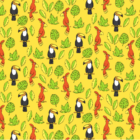 Fabric 2985 | tropical birds