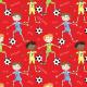 Fabric 28586   pilka nozna XS red