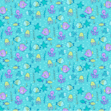 Fabric 2988 | underwater life