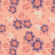 Fabric 28767   ORNAMENTALNE RÓŻOWO-FIOLETOWE KWIATY W STYLU RETRO NA różowym TLE