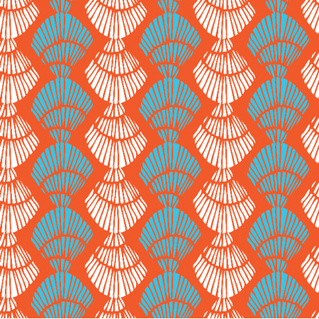 Fabric 3034 | Shell stripe-persimmon