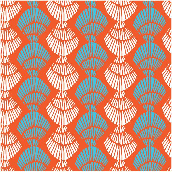 Tkanina 3034 | Shell stripe-persimmon